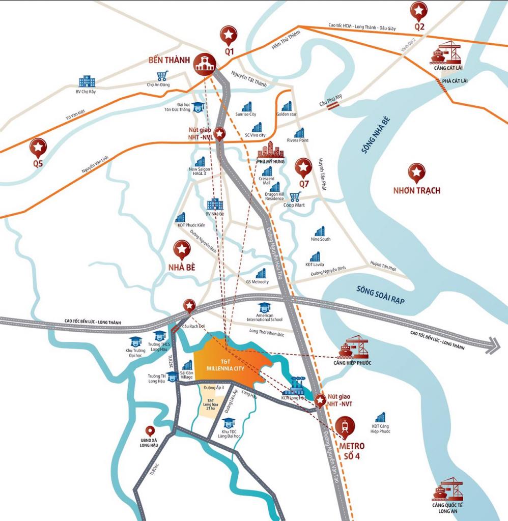 Vị trí dự án T&T Millenia City