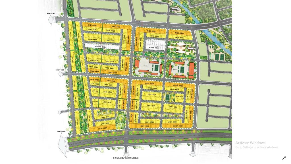 Sơ đồ dự án T&T Milennnia City