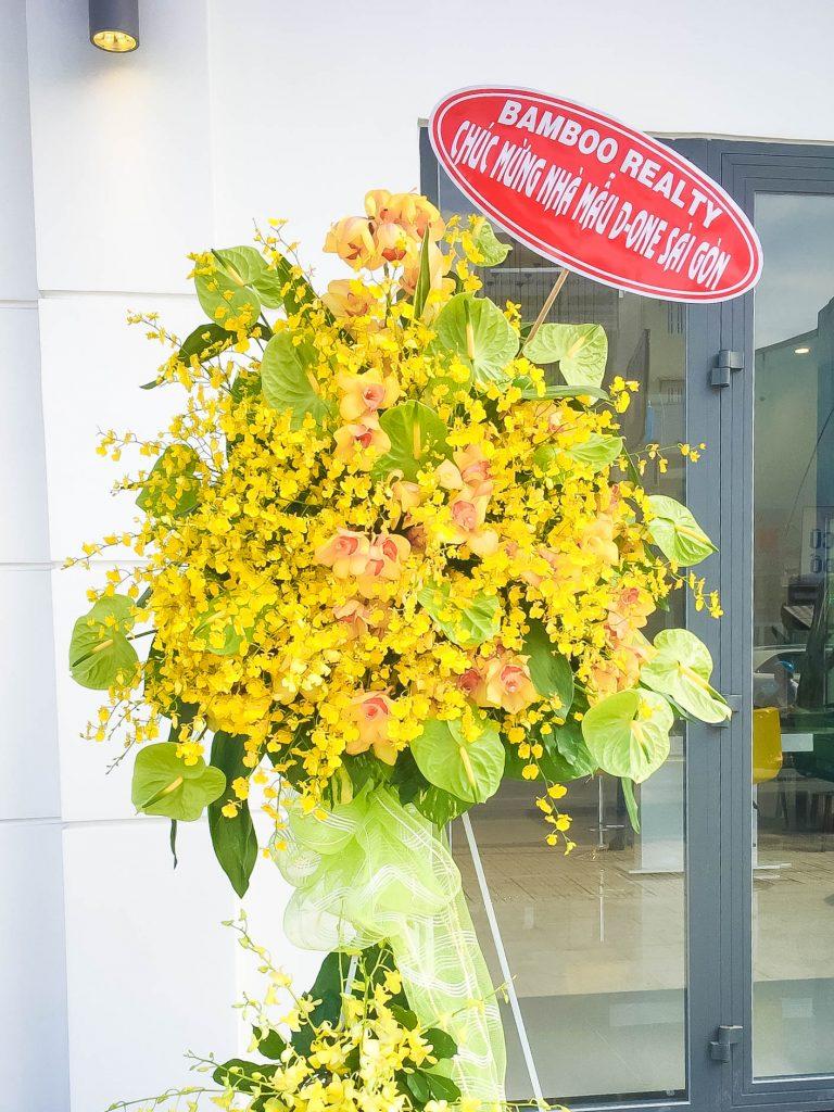 Bamboo Realty gửi tặng hoa trong ngày khai trương nhà mẫu D-One Sài Gòn