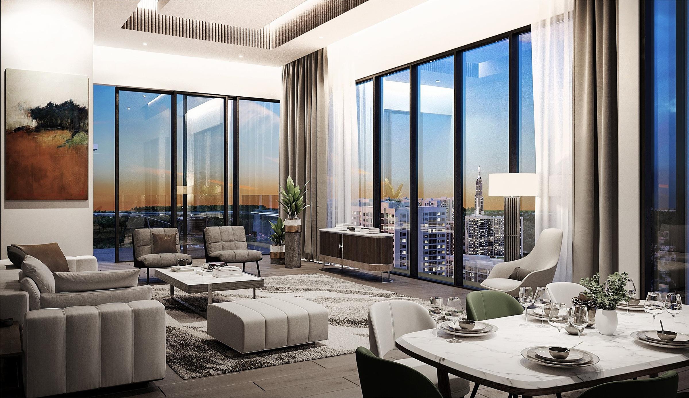 Phối cảnh nội thất căn hộ Masteri Centre tại thành phố mới Thủ Đức. Ảnh: Masterise Homes.